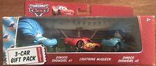 Disney Pixar Cars 3-Car Gift Pack Dinoco Show Girl #1, #2 & Lightning McQueen