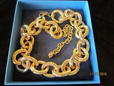 """OFF PARK COLLECTION ~ 18"""" OVAL LINK GOLD TONE NECKLACE  ~ BIG, BOLD & BEAUTIFUL"""