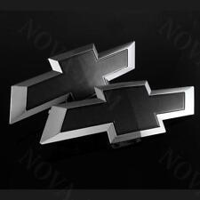 2PCS 2015 2016 2017 Chevy Chevrolet COLORADO Front & Rear Black Bowtie Emblem