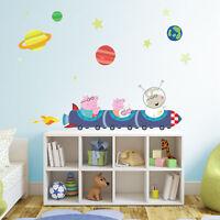 Peppa Pig rocket train wall stickers pack | Official Peppa Pig wall stickers
