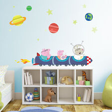Peppa Pig rocket train wall stickers pack | Official Peppa Pig wall stickers