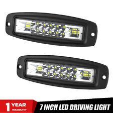 2X 7inch LED Work Light Flush Mount Flood Spot Combo Off-road Driving Fog Lamp