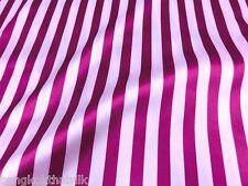 "Stripe Pink White Faux Silk Satin 48""W Fabric BTY Dress Drape Skirt Scarfs"