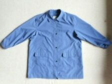Womens Jacket-LL BEAN-blue lined zip-up collared snap closures long sleeve-2X