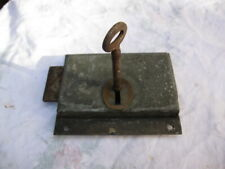 ANTIQUE MORTICE DOOR LOCK.Left or Right Handed Fitment + Key.House renovation.