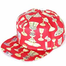 NEW CROOKS & CASTLES HOLY GRAIL HAT SNAPBACK RED MENS ADJUSTABLE RARE