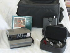 Vintage POLAROID SPECTRA Camera Filter Set Transmitter Receiver Case Bag Lot