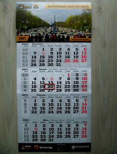4 Monatskalender, Wandkalender 2021 mit Datums-Schieber (neu) **