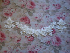 New! Shabby Chic XLG CARVED ROSE & LEAF SWAG/GARLAND DROPS Pediment Applique