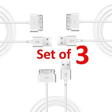 3 X Cable de datos y sincronización y cargador para Apple iPhone 4S 4 3GS iPod 4th iPad 2 1 Touch