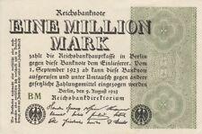 * Ro. 101d - 1 millón de Mark-Deutsches Reich - 1923-Fz: bm *