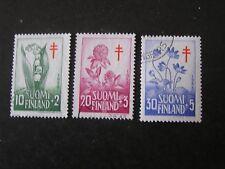 Finland, Scott # B148-B150(3), Complete 1958 Semi-Postal Anti-Tb Society Used