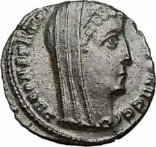 CONSTANTINE I the GREAT Cult  Heaven Horse Chariot Ancient Roman Coin i25204
