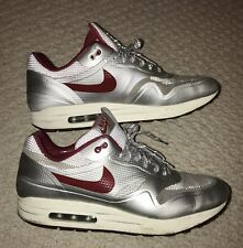 NIKE Air Max 1 Runners 13 Trainer Night Track Shoes Silver Sneaker Hyperfuse