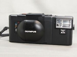 [N,Mint] Olympus XA 35mm Rangefinder Film Camera + A11 Flash From JAPAN