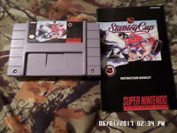 NHL Hockey Stanley Cup w/ Instruction Manual (Super Nintendo Game SNES)