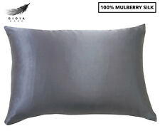 Gioia Casa Two-Sided 100%25 Mulberry Silk Pillowcase - Charcoal