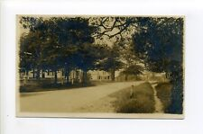 New Bedford MA Mass RPPC real photo street view, homes, antique postcard