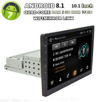 "10.1"" HD Car Stereo Radio GPS Bluetooth Android 8.1 Head Unit Mirror Link WiFi"