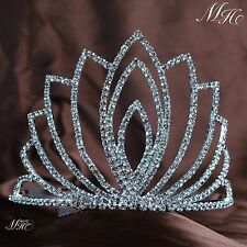 Large Tiaras w/ Hair Combs Bridal Rhinestone Wedding Crowns Pageant Prom Jewelry