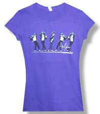 Michael Jackson-5 Dancers-Smalll Purple  Girl's Junior Lightweight T-shirt