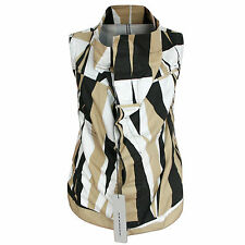 RICK OWENS DRKSHDW tribal camo Exploder vest sleeveless cowl neck jacket S NEW