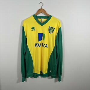 Norwich City L/S Home Football Shirt 2013/14 Adults XL BN without tags