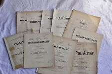 10x Job Lot Vintage Antique Song Piano Sheet Music 1910s 1920s Wartime C