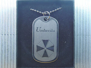 Resident Evil Biohazard Umbrella Dog Tag Necklace