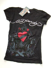 NWT Girls Ed Hardy Black Heart Panther Logo Shirt New S Small S/S Kids