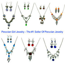 6 NECKLACES EARRINGS MATCHING SETS PERUVIAN JEWELRY LOT