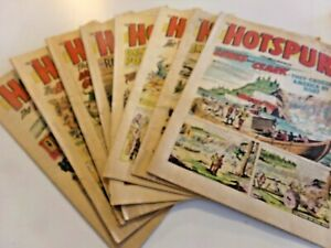 Vintage  1960's The Hotspur Comic Books & Tiger and Hurricane (19) Good Cond.