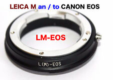 LM - EOS   Leica M Objektiv Lens  Adapter  an --To  Canon EOS Kamera EF Mount