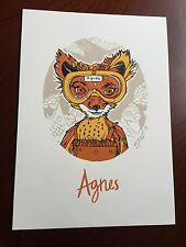 Tyler Stout Fantastic Mr Fox Agnes Handbill Stamped Wes Anderson