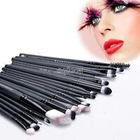 20 Brochas Pinceles de Madera Maquillaje Cosmética Profesional Portátil Funda
