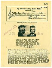 Wanted Notice - Edward H. Fry/Fraudulent Checks - Leavenworth 1940
