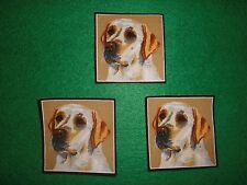 LABRADOR,DOG/PUP,SET of 3 FABRIC CUT IRON-ON APPLIQUES FABRI-CUT PATCHES