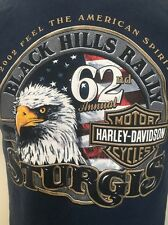 HARLEY DAVIDSON STURGIS RALLY 62ND 2002 BLACK HILLS  BLUE T-SHIRT