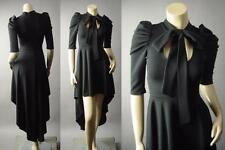 Black Pussy Bow High Neck Puff Sleeve Victorian Gothic Lolita 188 mv Dress S M L