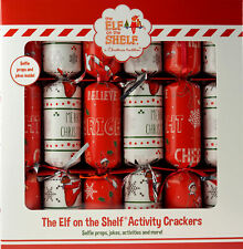 Set Of 6 Elf On The Shelf Table / Tree Christmas Crackers