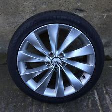 "VOLKSWAGEN VW SCIROCCO 18"" ALLOY WHEEL TYRE INTERLAGOS TURBINE 5X112 GENUINE"