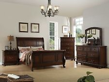 4pc Bedroom Est King Size Sleigh Bed Relax Room Simple Dresser Mirror Nightstand