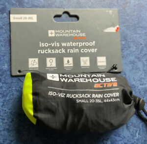Mountain Warehouse Iso-Viz Waterproof Rucksack Cover - 20-35L Backpack, Camping