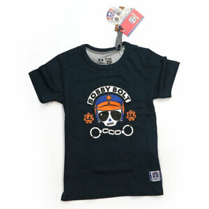 Bobby Bolt Police Kids Fashionable Casual Wear T-Shirt Navy