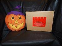 Vintage Avon Gordon Pumpkin Halloween Window Decoration LIGHTS UP AND FLASHES