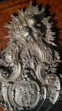 Rare 19thC Antique French Bronze  Holy Water Font-Angels.