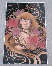 Audrey Kawasaki Signed THINGS UNSAID 14x23 Giclee Fine Art Print