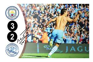 Sergio Aguero Signed Manchester City Photo Man QPR 2012 Goal