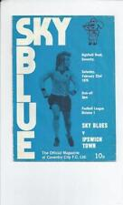 First Division Coventry City Teams C-E Football Programmes