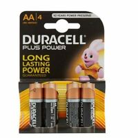 NEW DURACELL PLUS POWER ALKALINE AA BATTERIES - PACK OF 4 - S3546 BEST QUALITY